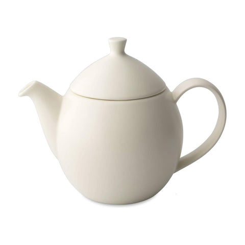 Dew Satin Teapot With Basket Infuser 32 oz Natural Cotton