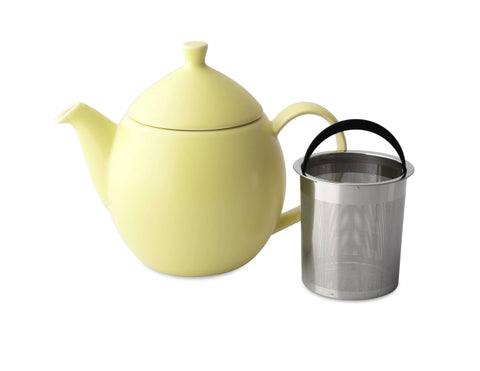 Dew Satin Teapot With Basket Infuser 32 oz Lemon Grass