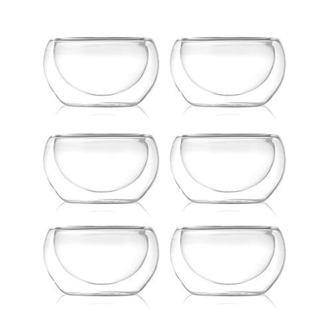 Double Wall Glass Tasting Cups (set of 6)