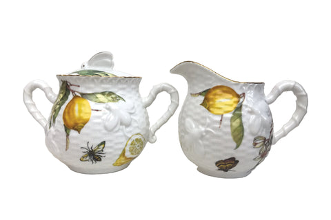 Crafted Gold Bee Lemon Sugar and Creamer Set