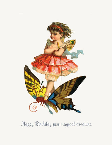 Happy Birthday You Magical Creature! Glitter Greeting Card