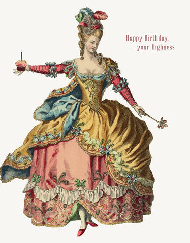 Happy Birthday, Your Highness! Glitter Greeting Card