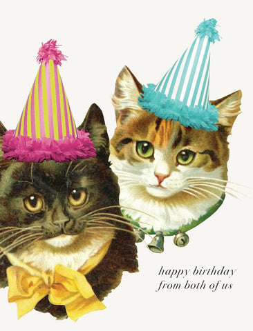 Happy Birthday from Both of Us! Glitter Greeting Card