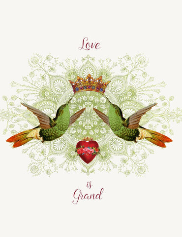 Love is Grand! Glitter Greeting Card