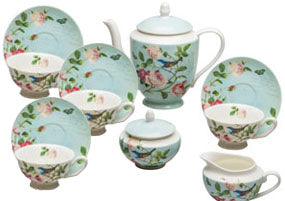 Blue Jay Tea Set