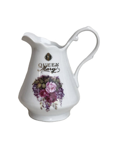 Queen Mary Signature Creamer Pink Rose Bouquet