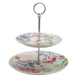 Pink Chamber Garden 2-Tier Cake Plate  sc 1 st  Queen Mary Tea & Pink Chamber Garden 2-Tier Cake Plate | Queen Mary Tea