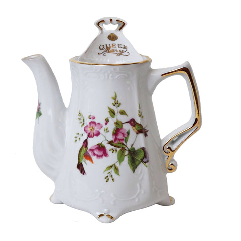 Queen Mary Signature Hummingbird with Flowers Teapot