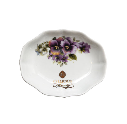 Queen Mary Signature Oval Drip Catcher in Assorted Floral Designs