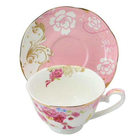 Rose Dot Pink Cup with Saucer