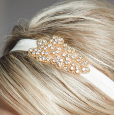 Rhinestone Headband - Gold Mia (Assorted Colors)