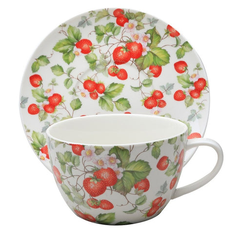 Strawberry Vine Jumbo Cup and Saucer