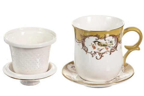 Tea For Me Four Piece Set - Yellow Bird