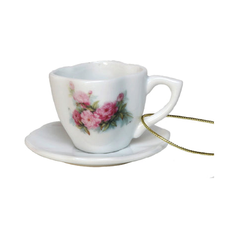 Queen Mary Signature Teacup Ornament in Assorted Floral Designs