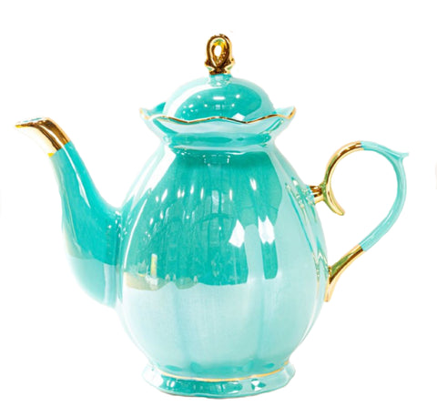 Turquoise Luster Teapot