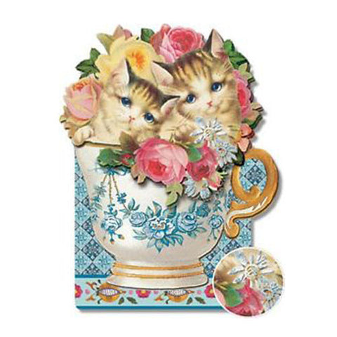 Kittens in a Teacup Card