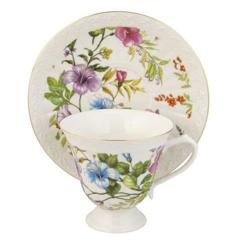Summer Vine Teacup and Saucer