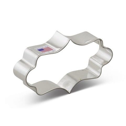 Cookie Cutter - Long Oval Plaque