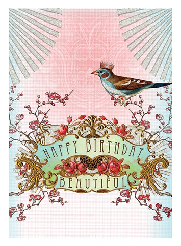Birthday Card - Happy Birthday Beautiful