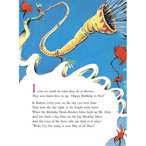 Happy Birthday To You! Dr. Seuss Book