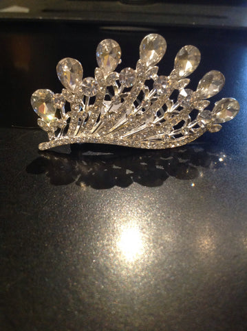 Slanted Crown Comb Tiara