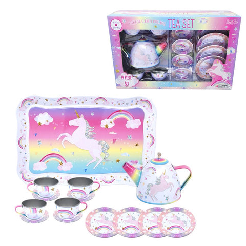 Cotton Candy Dreams Tin Tea Set