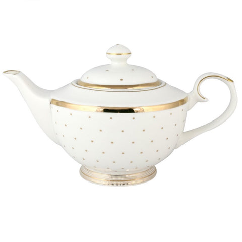 Lady Grace Gold Polka Dot Teapot