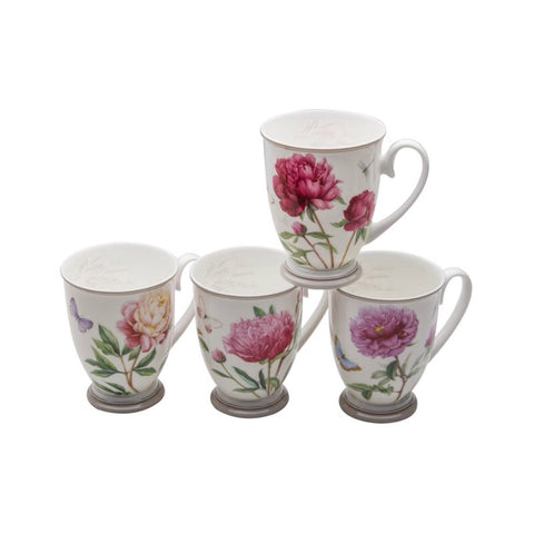 Peony Footed Mug (Assorted)