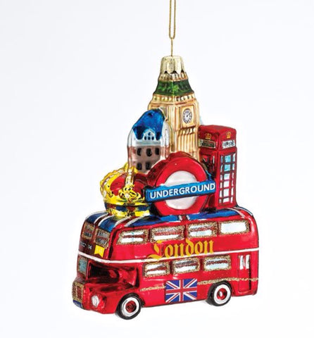 Glass London City Ornaments
