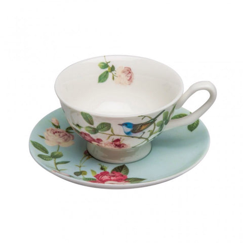 Blue Jay Teacup and Saucer