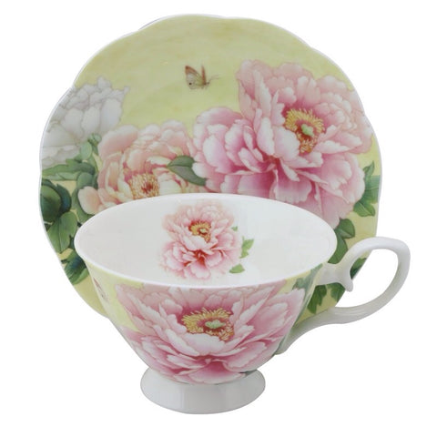 Empire Peony Tea Cup and Saucer