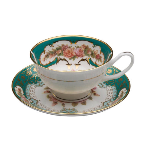 Emperor Emerald Gold Teacup and Saucer