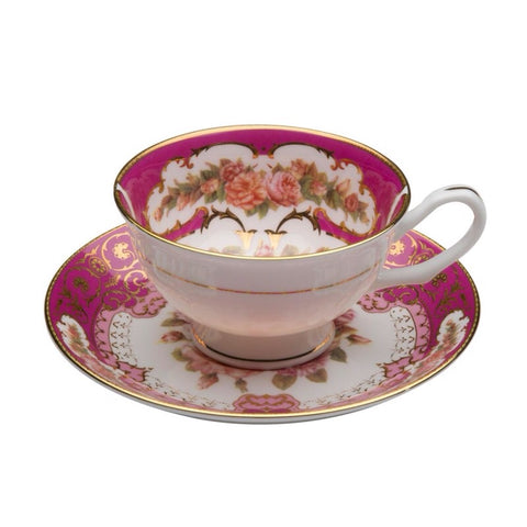 Emperor Red Gold Teacup and Saucer