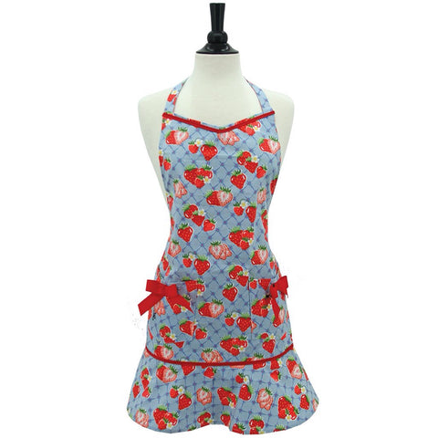 Jessie Steele Apron- Sweet Strawberry