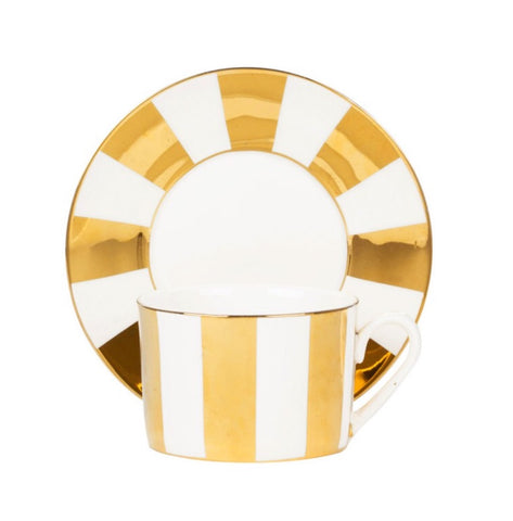 Holiday Teacup- Gold Carousal