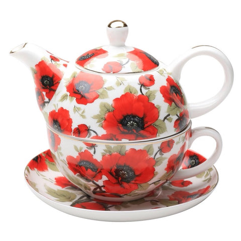 Red Poppy Tea For One
