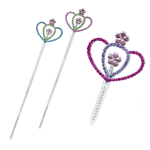 Flower Garden Glitter Wand Assorted