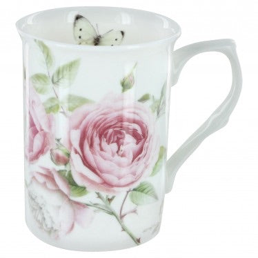Beau Rose Bone China Can Mug