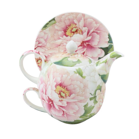 Empire Peony Tea For One set
