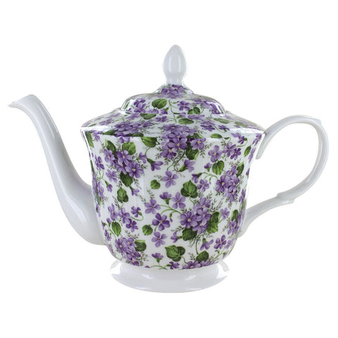 Violet Bone China Teapot