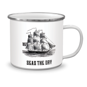 Seas The Day Enamel Mug