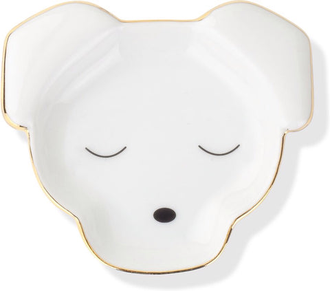 Dog Face Ceramic Tray