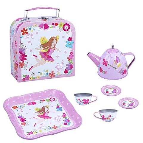 Fairy Tin Tea Set With Case