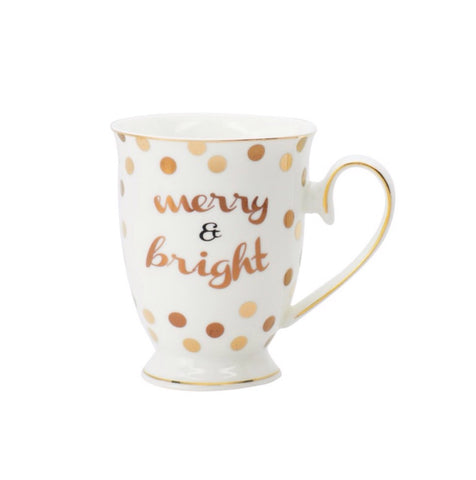 Merry and Bright Footed Mug