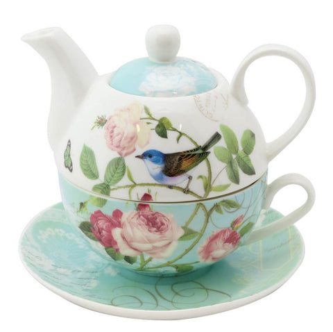 Blue Jay 4 Piece Tea for One