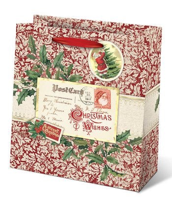 Postcards and Holly Gift Bag