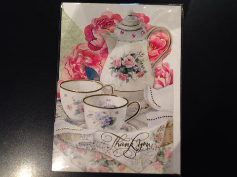 Tea Set Thank You Card