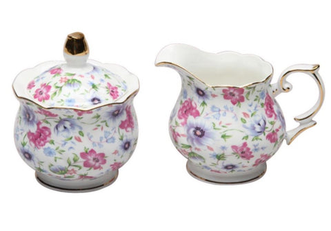 Summer Garden Sugar and Creamer Set