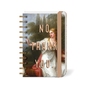 No Thank You Pocket Mini Spiral Notebook