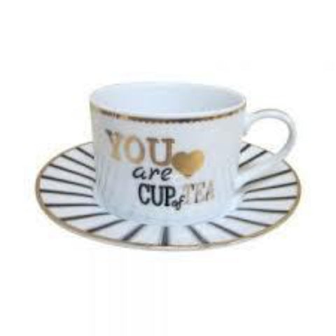 You Are My Cup of Tea Teacup and Saucer
